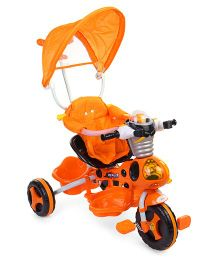 Musical Tricycle With Canopy & Robot Design - Orange