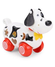 Puppy Shaped Pull Along Toy With Shape Sorter - White