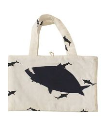 Kadam Baby Art Kit Shark Print - White Black