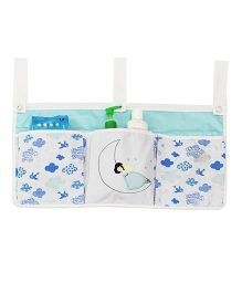 Kadam Baby 3 Pocket Crib Organiser Fairy Embroidery - Blue