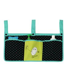 Kadam Baby 3 Pocket Crib Organiser Doodle Embroidery - Green