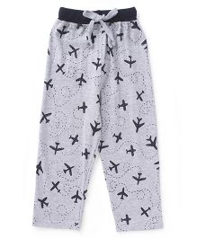 Fido Full Length Lounge Pant Airplane Print - Grey