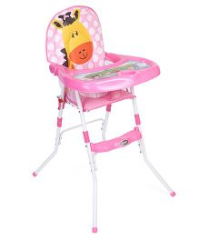 High Chair Giraffe & Polka Dots Design - Pink