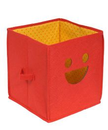 Prettykrafts Emoticons Storage Box Smiley Design - Red