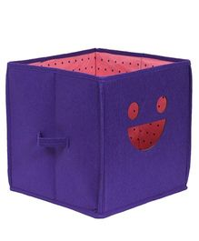Prettykrafts Emoticons Storage Box Smiley Design - Purple