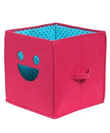 Prettykrafts Emoticons Storage Box Smiley Design - Pink