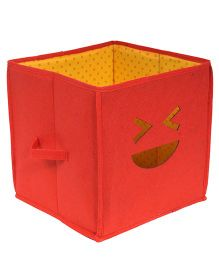 PrettyKrafts Emoticons Wink Storage Box - Red