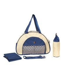 Vouch Keepall Fancy Mother Bag With Changing Mat - Beige Navy