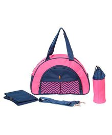 Vouch Keepall Fancy Mother Bag With Changing Mat - Pink Navy