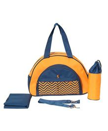 Vouch Keepall Fancy Mother Bag With Changing Mat - Yellow Navy
