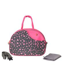 Vouch Amazona Sachel Mother Bag With Changing Mat - Pink Navy