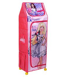 Barbie Fun Closet 5 Shelf Folding Wardrobe - Pink