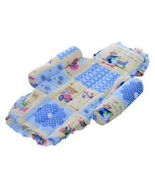 Little's Compact Bed Honey Bear Print - Blue
