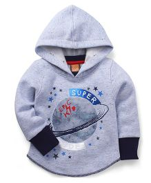 Little Kangaroos Full Sleeves Hooded Sweatshirt - Grey