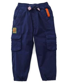 Little Kangaroos Track Pants With Drawstrings - Blue