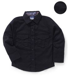 Little Kangaroos Full Sleeves Solid Shirt - Black