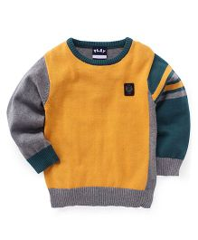 Little Kangaroos Full Sleeves Pullover Sweater - Gold