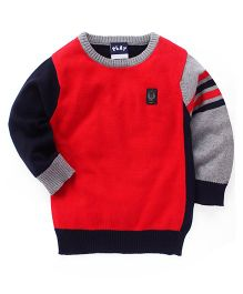 Little Kangaroos Full Sleeves Pullover Sweater - Red