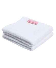 Mumma's Touch Organic Bamboo Baby Wash Towel Set Of 2 - White