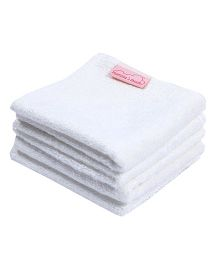 Mumma's Touch Organic Bamboo Baby Wash Towel Small Set Of 4 - Off White