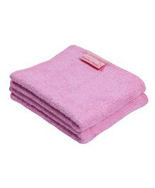 Mumma's Touch Organic Bamboo Baby Wash Towel Set Of 2 - Pink