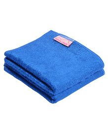 Mumma's Touch Organic Bamboo Baby Wash Towel Set Of 2 - Blue