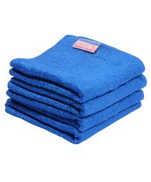 Mumma's Touch Organic Bamboo Baby Wash Towel Set Of 4 Small - Royal Blue