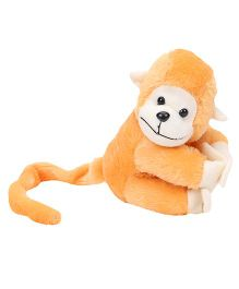 Playtoons Long Tail Monkey Soft Toy Light Orange - Height 15.24 cm