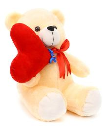 Playtoons Teddy Bear Soft Toy With Heart Height 38 cm (Color May Vary)
