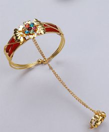 Kid1 Ring With Braclet - Golden
