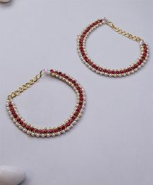 Kid1 Stone Ethnic Anklet - Pink