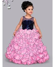 M'Princess Stylish Party Wear Gown - Pink