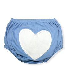 Minimi Heart Print Bloomers - Blue
