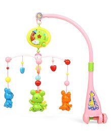 Baby Musical Bell Animals Cot Mobile - Yellow Pink