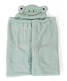 Adore Fleece Hooded Blanket - Light Green