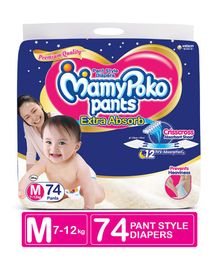 MamyPoko Extra Absorb Pant Style Diapers Medium - 74 Pieces