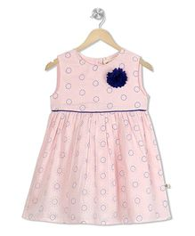 Budding Bees Floral Printed Dress - Light Pink