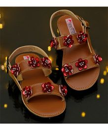 D'chica Flowers Of Bling Princess Sandals - Brown