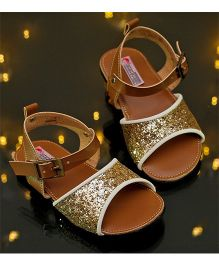 D'chica Love For Gold Blingy Sandals - Golden