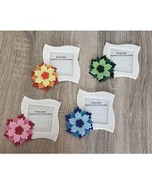 Kalacaree Set Of 4 Flowers Of Joy Magnetic Photo Frame - Cream