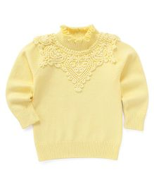 Superfie Lace Skivvy - Yellow