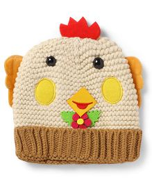 Superfie Woolen Cap For Kids - Cream