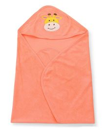 Simply Hooded Wrapper Cow Patch - Light Orange