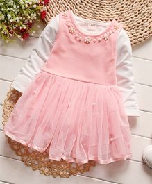 Tickles 4 U 2 Top With Pearl Embellished Dress - Pink