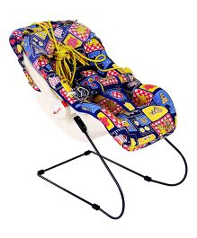 Infanto 7 In 1 Swing Bouncer Teddy And Floral Print - Blue