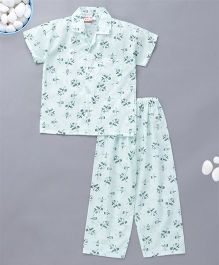 KID1 Dancing Hat Boy Print Night Suit - Blue