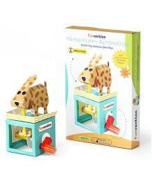 Funvention Paper Puppy Automaton 3D Paper Animation DIY Kit - Multicolor
