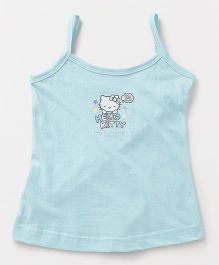 Hello Kitty Printed Singlet Slip - Sky Blue