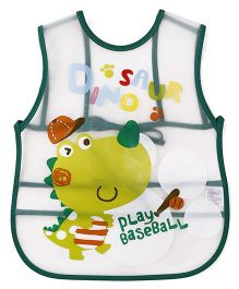 Alpaks Apron With Pocket Play Baseball Print - Green