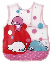 Alpaks Apron With Pocket Dolphin Print - Pink